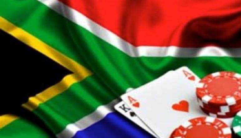 The South African flag with the perfect Blackjack hand.